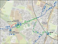 Zmiany wkursowaniu autobusów 125, 126, A, 247 i251